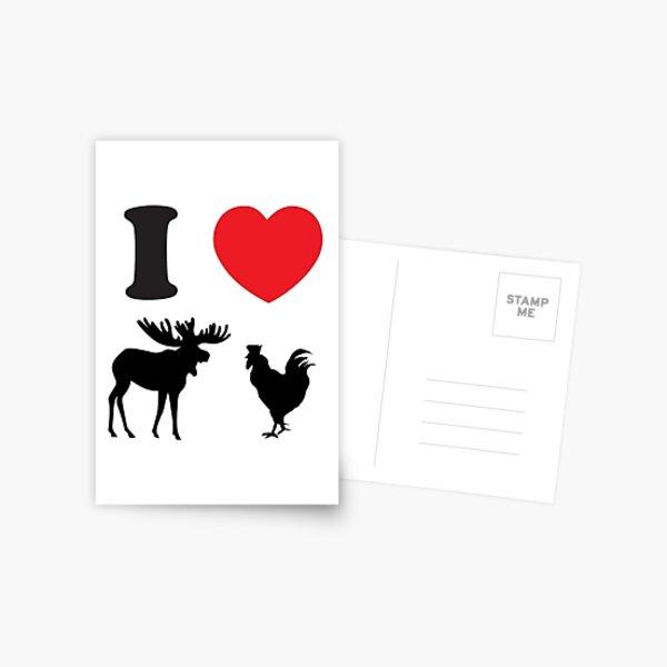 I Heart Moose Cock Postal