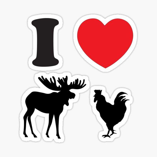 I Heart Moose Cock Pegatina