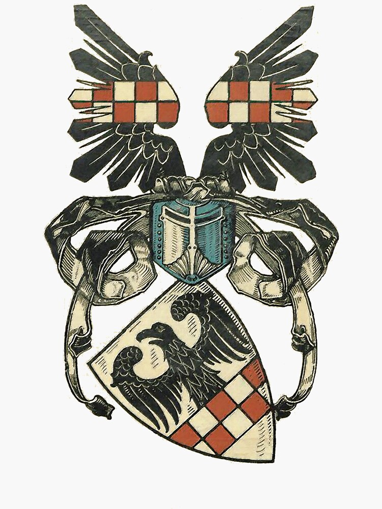 Coat of Arms of a medieval Teutonic Knight by edsimoneit