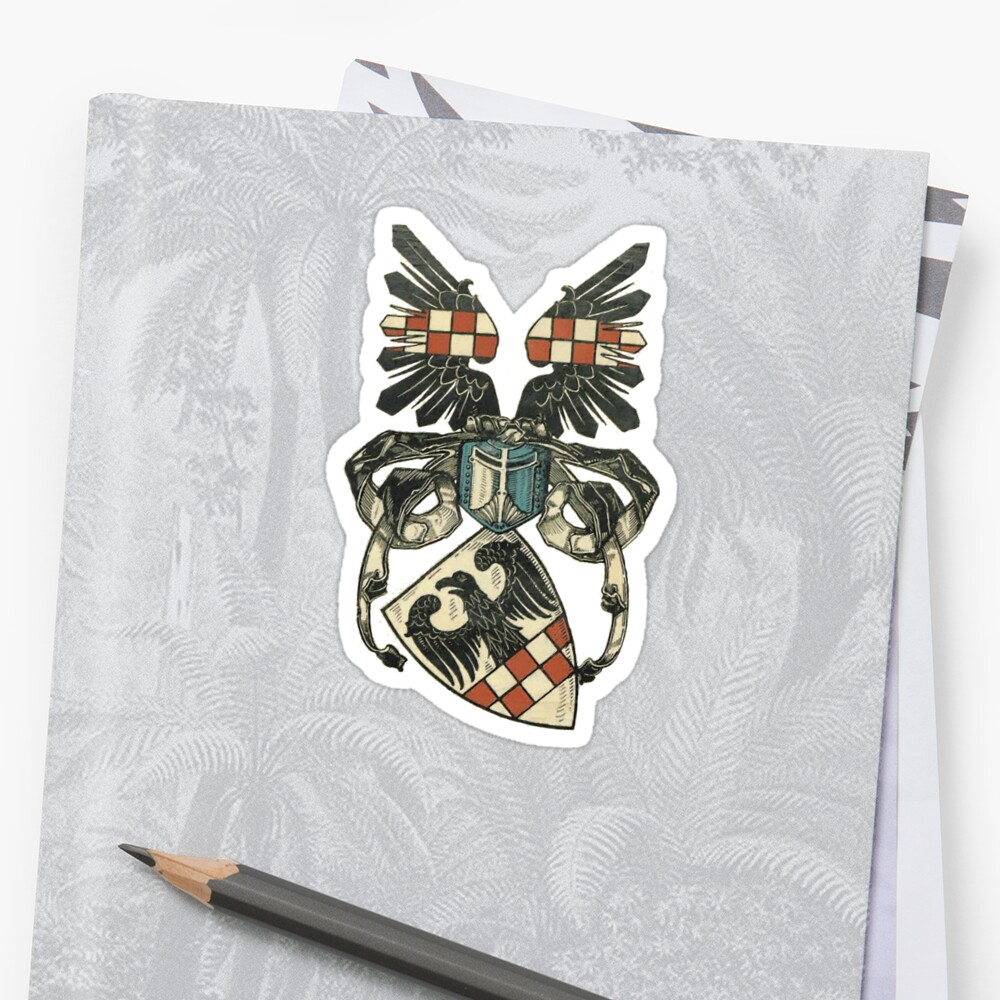 Coat of Arms of a medieval Teutonic Knight Sticker