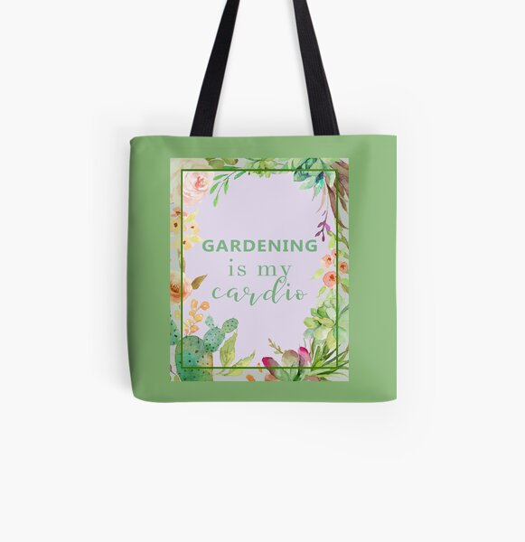 Gardening is my cardio All Over Print Tote Bag
