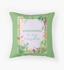 Gardening is my cardio Floor Pillow