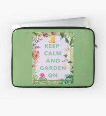 Keep Calm and Garden On Laptop Sleeve