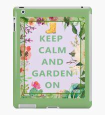 Keep Calm and Garden On iPad Case/Skin