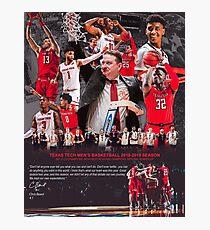 Der Basketball-Gedenkplakat 2018-2019 der Texas-Tech-Männer Fotodruck