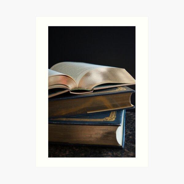 Golden Pages Art Print