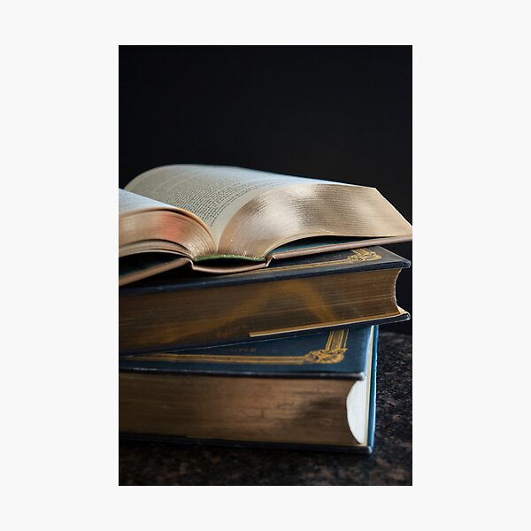 Golden Pages Photographic Print