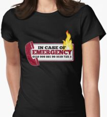 It Crowd Inspired - New Emergency Number - 0118 999 881 99 9119 725 3 - Moss and the Fire Women's Fitted T-Shirt