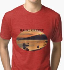 Halki Sunrise (version 1) Tri-blend T-Shirt