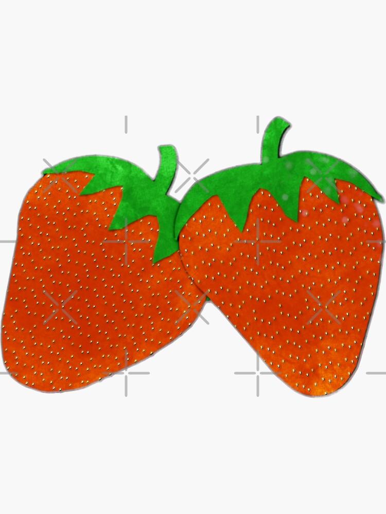 Strawberries Watercolor by ButterflysAttic