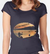 Halki Sunrise (version 2) Women's Fitted Scoop T-Shirt