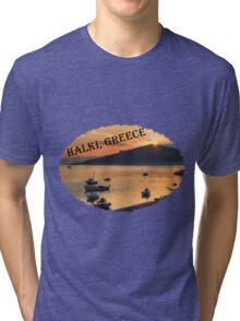 Halki Sunrise (version 2) Tri-blend T-Shirt