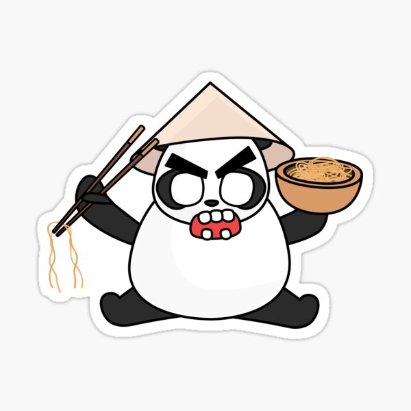 angry zombie noodle panda Sticker