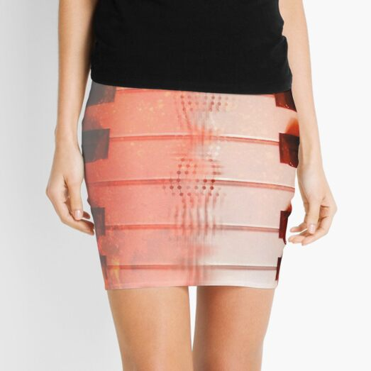 Mirrored Piano Print Mini Skirt