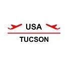 Tucson Arizona USA Airport Plane Light-Color by TinyStarAmerica