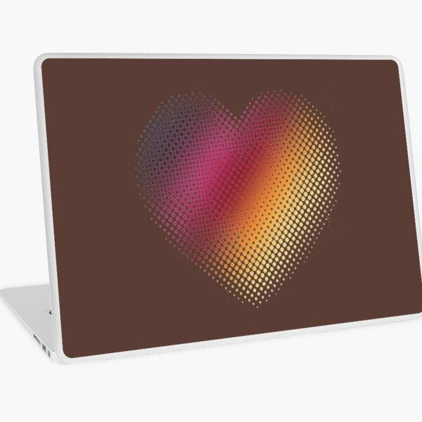 Linear Gradient on Halftone Heart (Rocky Road Brown) Laptop Skin