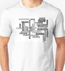 Wordle Fetish Gay Unisex T-Shirt