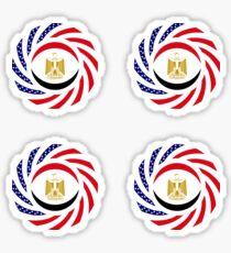 Egyptian American Multinational Patriot Flag Series Sticker