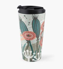 Meadow Breeze Floral Illustration Travel Mug