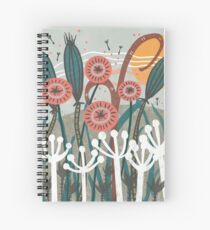 Meadow Breeze Floral Illustration Spiral Notebook