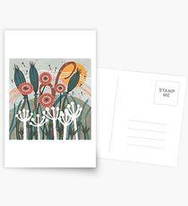 Meadow Breeze Floral Illustration Postcards