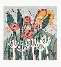 Meadow Breeze Floral Illustration Photographic Print
