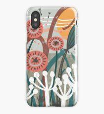 Meadow Breeze Floral Illustration iPhone Case
