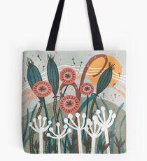 Meadow Breeze Floral Illustration Tote Bag