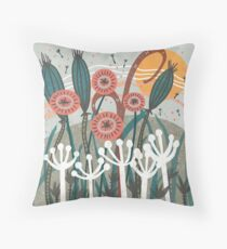 Meadow Breeze Floral Illustration Floor Pillow