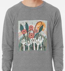 Meadow Breeze Floral Illustration Lightweight Sweatshirt