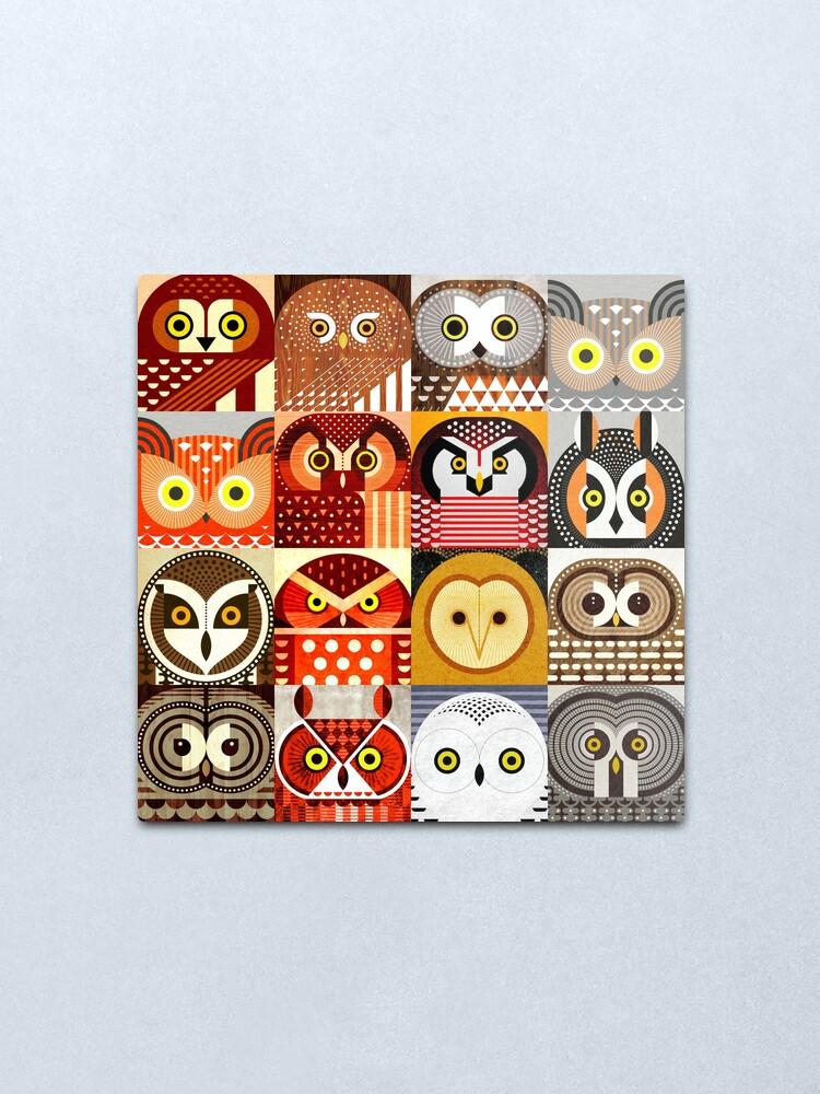 Alternate view of North American Owls Metal Print