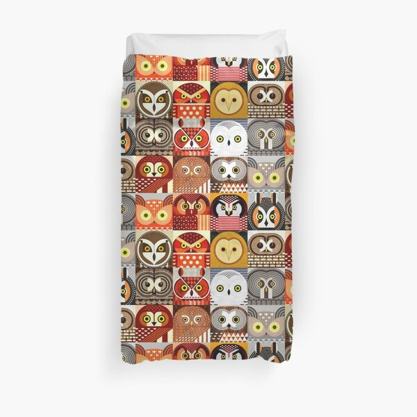 North American Owls Duvet Cover