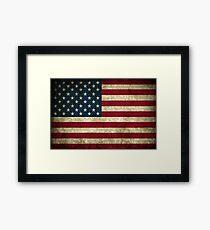 USA Grunge Flag Framed Print