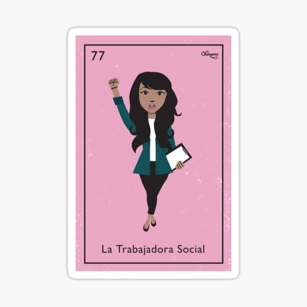 La Trabajadora Social Sticker