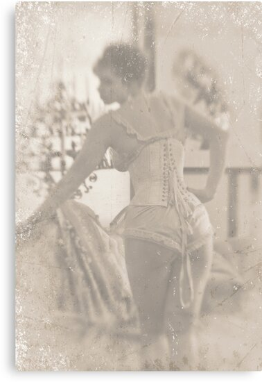 ~ woman in laced corset ~ by Adriana Glackin