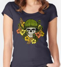 Tropical Print (Military Edition) Women's Fitted Scoop T-Shirt