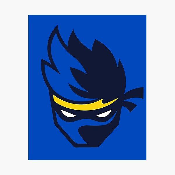 Blauer Ninja Fotodruck