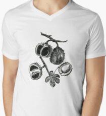 chestnut Mens V-Neck T-Shirt