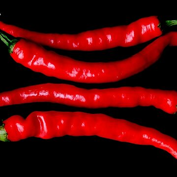 Four Red Chilies by AlanHarman