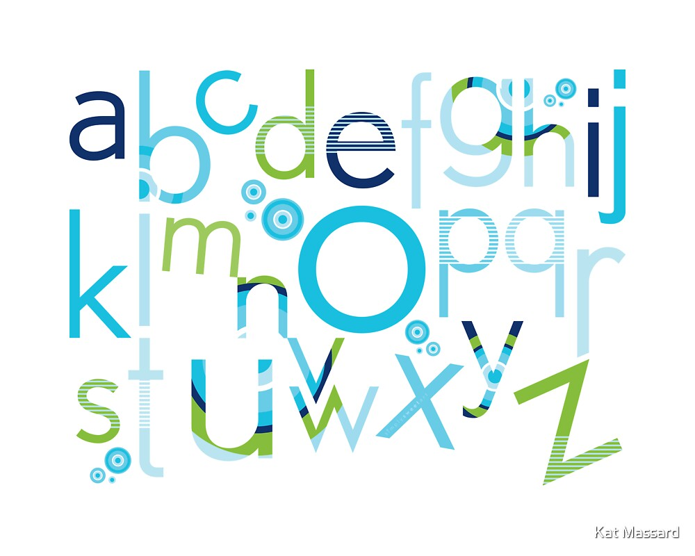 TYPOGRAPHY :: trendy alphabet 2 by Kat Massard
