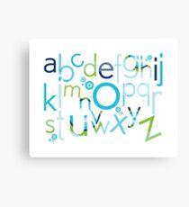 TYPOGRAPHY :: trendy alphabet 2 Canvas Print