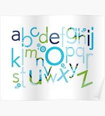 TYPOGRAPHY :: trendy alphabet 2 Poster