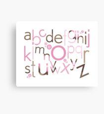 TYPOGRAPHY :: trendy alphabet 3 Canvas Print