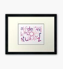 TYPOGRAPHY :: trendy alphabet 4 Framed Print