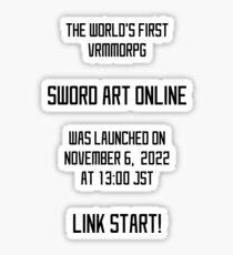 Pegatina Sword Art Online - Launched
