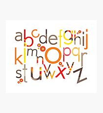 TYPOGRAPHY :: trendy alphabet 5 Photographic Print