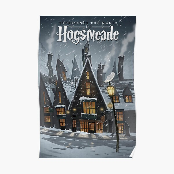 Visit Hogsmeade - Snowy Town Travel Poster Poster