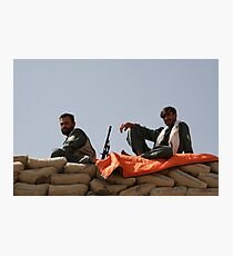 Two Afghan soldiers at war Photographic Print