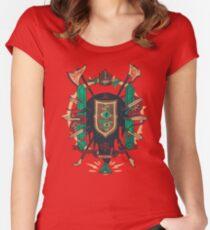 Astral Abstammung Tailliertes Rundhals-Shirt