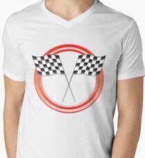 race flags Mens V-Neck T-Shirt